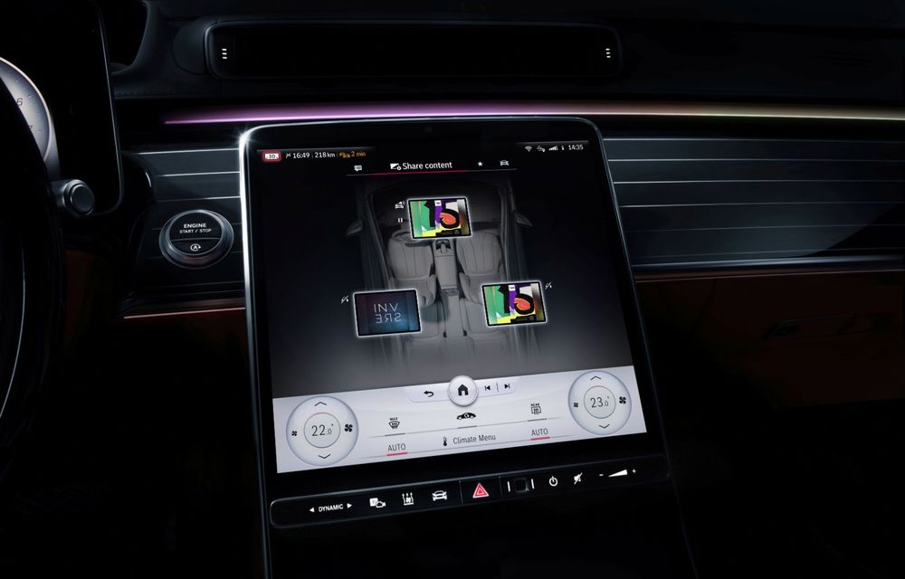 Primele imagini cu interiorul viitorului Mercedes-Benz Clasa S: vârful de gamă va putea fi comandat cu 5 ecrane și va avea instrumentar de bord 3D - Poza 3
