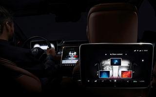 Primele imagini cu interiorul viitorului Mercedes-Benz Clasa S: vârful de gamă va putea fi comandat cu 5 ecrane și va avea instrumentar de bord 3D