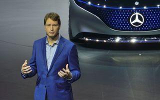 """Șeful Daimler, criticat de un acționar pentru """"un an pierdut"""": """"Mercedes EQC a fost lansat prea târziu, este prea scump și plictisitor"""""""