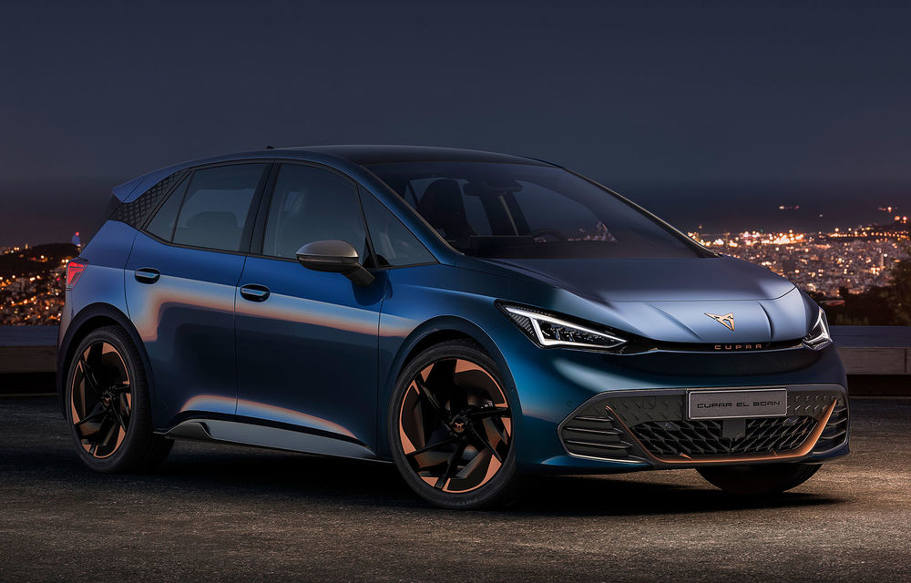 Cupra el-Born, primul model electric al diviziei de performanță: autonomie de până la 500 de kilometri și 0-50 km/h în 2.9 secunde - Poza 1