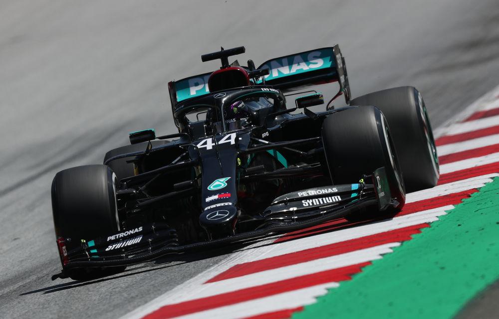 Hamilton, pole position pe ploaie în Austria! Verstappen, locul doi în fața lui Sainz după un derapaj în ultimul tur rapid - Poza 1
