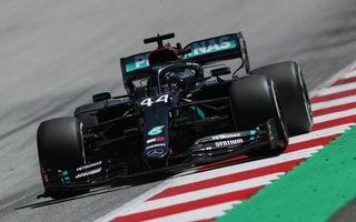 Hamilton, pole position pe ploaie în Austria! Verstappen, locul doi în fața lui Sainz după un derapaj în ultimul tur rapid