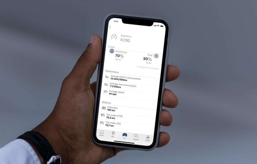 Volvo introduce funcții noi în aplicația Volvo On Call: proprietarii de mașini plug-in hybrid află diverse statistici despre cum au condus în mod electric - Poza 2