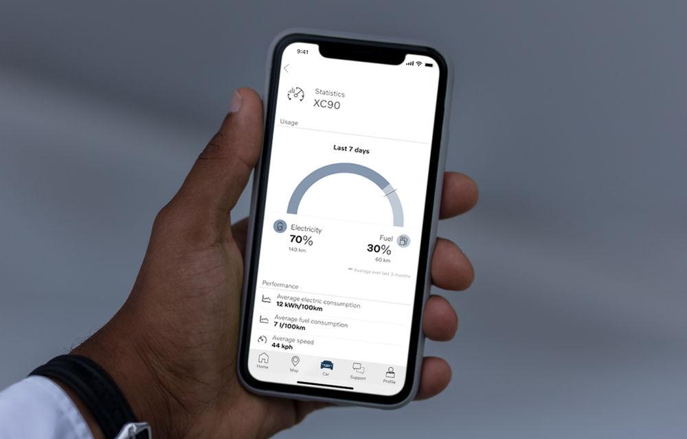 Volvo introduce funcții noi în aplicația Volvo On Call: proprietarii de mașini plug-in hybrid află diverse statistici despre cum au condus în mod electric - Poza 1