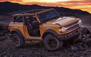 Ford a prezentat noua generație a modelului pentru off-road Bronco: motoare de până la 310 cai putere, versiune Sport și variante cu două și patru uși