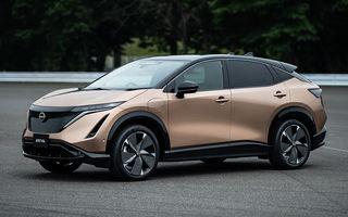 Nissan a prezentat noul Ariya: primul crossover coupe electric al companiei va avea cinci versiuni și autonomie de până la 500 de kilometri