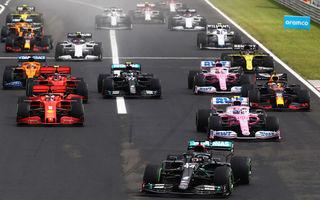 Hamilton a câștigat cursa de Formula 1 din Ungaria! Verstappen termină pe podium în fața lui Bottas după un start excelent