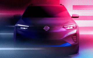 SsangYong publică primele teasere cu versiunea electrică a lui Korando: prezentarea oficială va avea loc în 2021