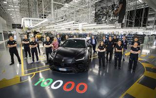 Sărbătoare la Lamborghini: SUV-ul Urus a atins pragul de 10.000 de unități produse