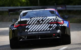 Primele imagini camuflate cu viitorul BMW M4 GT3: modelul de competiții va debuta în sezonul din 2022