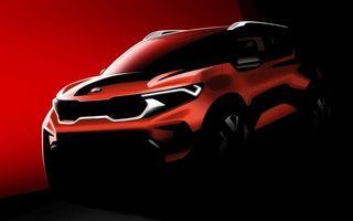 Prima schiță oficială cu viitorul SUV Kia Sonet: nu există planuri pentru lansarea în Europa