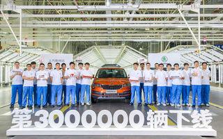 Sărbătoare la Skoda: 3 milioane de mașini au fost produse în uzinele din China