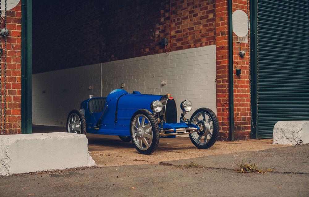 Bugatti a început producția lui Baby II: modelul electric de mici dimensiuni dezvoltă până la 13 cai putere și are o autonomie de peste 50 de kilometri - Poza 1