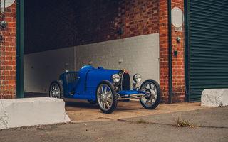 Bugatti a început producția lui Baby II: modelul electric de mici dimensiuni dezvoltă până la 13 cai putere și are o autonomie de peste 50 de kilometri