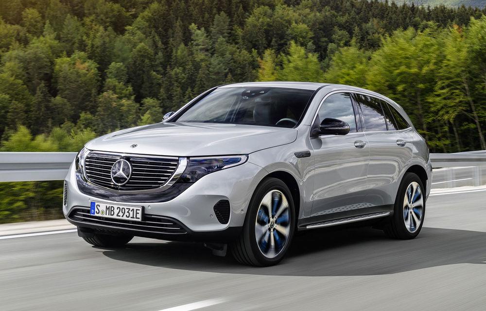 Mercedes-Benz pregătește îmbunătățiri pentru SUV-ul electric EQC: încărcare mai rapidă la curent alternativ și mai multe funcții standard - Poza 1