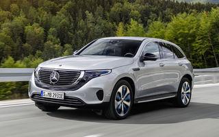 Mercedes-Benz pregătește îmbunătățiri pentru SUV-ul electric EQC: încărcare mai rapidă la curent alternativ și mai multe funcții standard