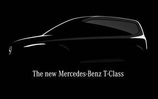 Mercedes-Benz va lansa în 2022 noul model Clasa T: utilitară de persoane pentru oraș derivată din Renault Kangoo