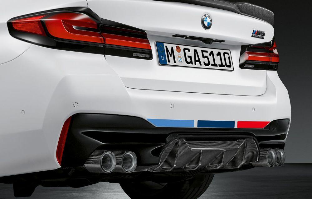 BMW lansează gama de accesorii M Performance pentru Seria 5 și M5 facelift: elemente de caroserie din fibră de carbon și noutăți pentru interior - Poza 44