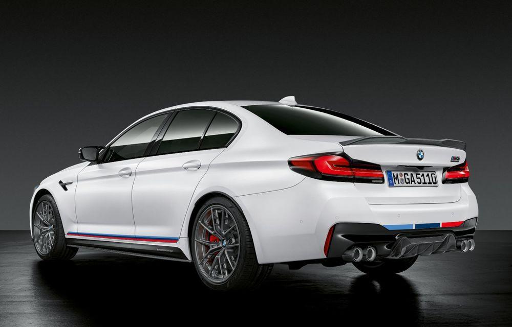 BMW lansează gama de accesorii M Performance pentru Seria 5 și M5 facelift: elemente de caroserie din fibră de carbon și noutăți pentru interior - Poza 8
