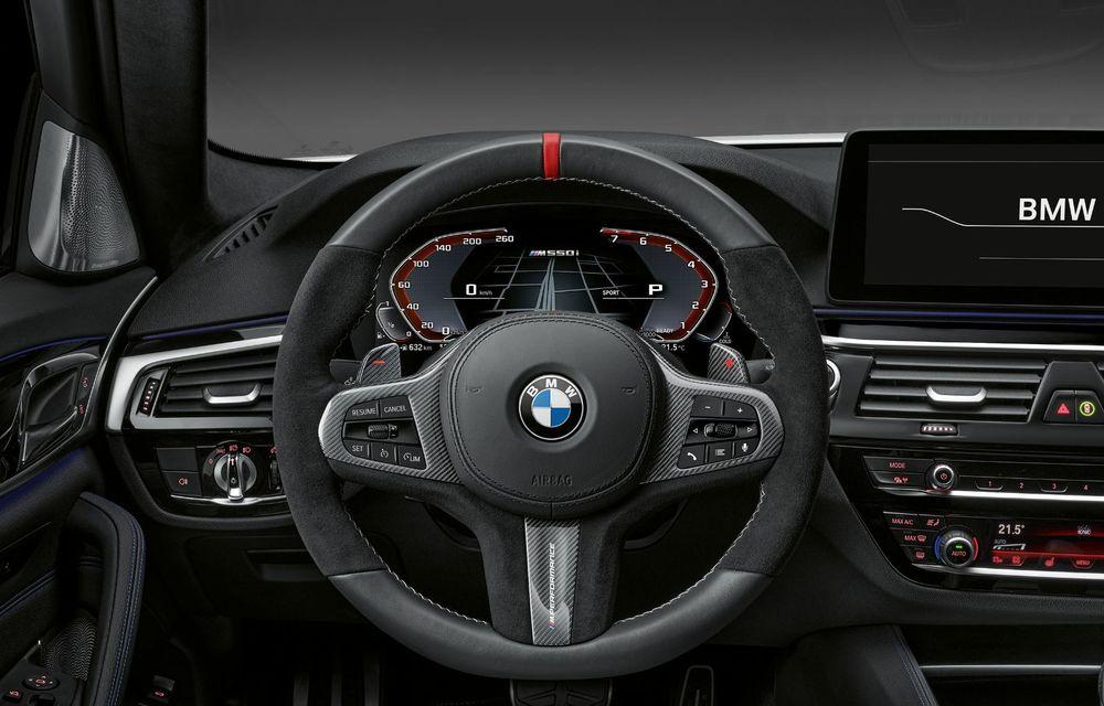 BMW lansează gama de accesorii M Performance pentru Seria 5 și M5 facelift: elemente de caroserie din fibră de carbon și noutăți pentru interior - Poza 50