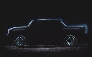 Un nou teaser pentru Hummer EV: pick-up-ul electric de 1.000 de cai putere va fi disponibil din 2021