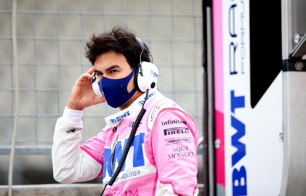 Perez a fost testat pozitiv cu Covid-19: pilotul Racing Point nu va concura în cursa de Formula 1 de la Silverstone - Poza 1