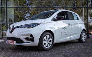 Serviciul de car-sharing Spark se extinde: flotă de 400 de unități Renault Zoe în București