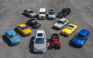 Skoda a publicat imagini camuflate cu viitorul Enyaq iV: SUV-ul electric a pozat alături de câteva modele istorice din gama cehilor