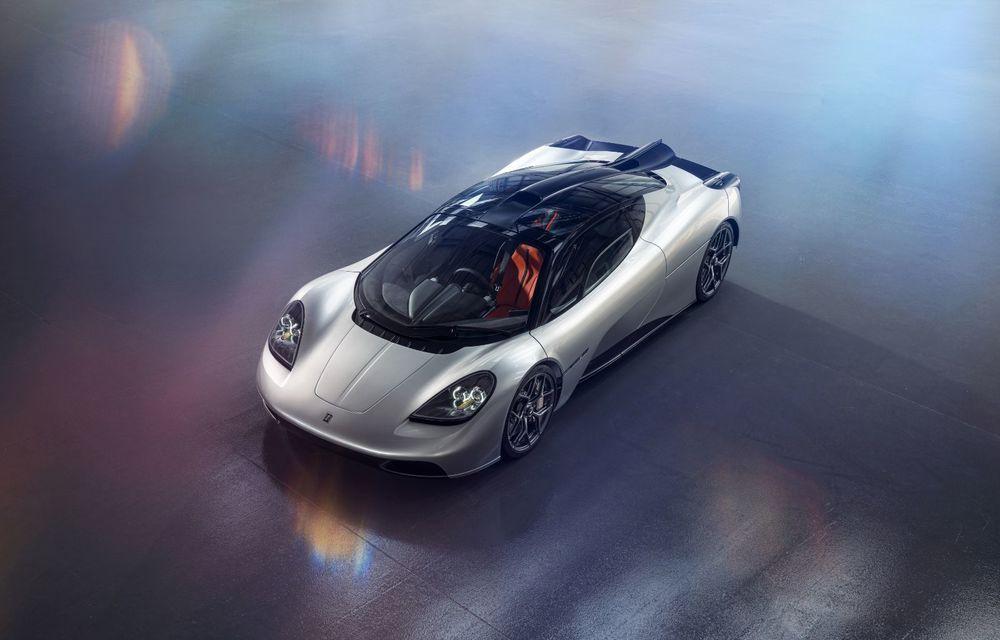 Gordon Murray a prezentat noul T.50, succesorul lui McLaren F1: supercar-ul cântărește mai puțin de o tonă și are un V12 aspirat natural cu 663 CP - Poza 4