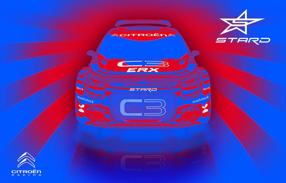 Citroen C3 R5 transformat în vehicul electric destinat competițiilor de rallycross: modelul are trei motoare electrice care oferă până la 612 CP - Poza 1