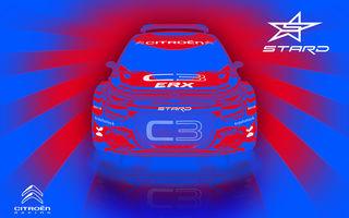 Citroen C3 R5 transformat în vehicul electric destinat competițiilor de rallycross: modelul are trei motoare electrice care oferă până la 612 CP