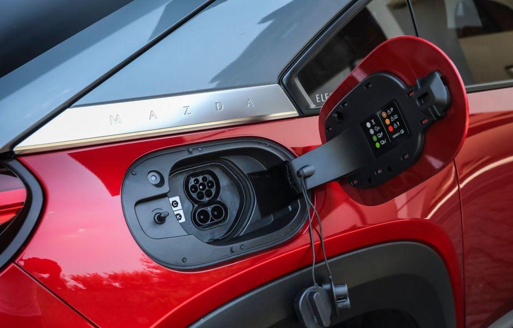 Întâlnire cu MX-30, prima electrică Mazda: autonomia de 200 de kilometri - între probleme de imagine, cifre oficiale și realități - Poza 33