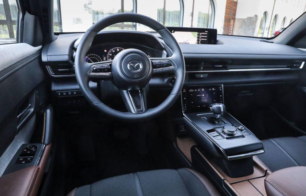 Întâlnire cu MX-30, prima electrică Mazda: autonomia de 200 de kilometri - între probleme de imagine, cifre oficiale și realități - Poza 77