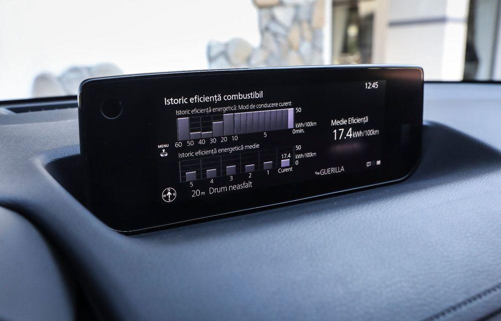 Întâlnire cu MX-30, prima electrică Mazda: autonomia de 200 de kilometri - între probleme de imagine, cifre oficiale și realități - Poza 72