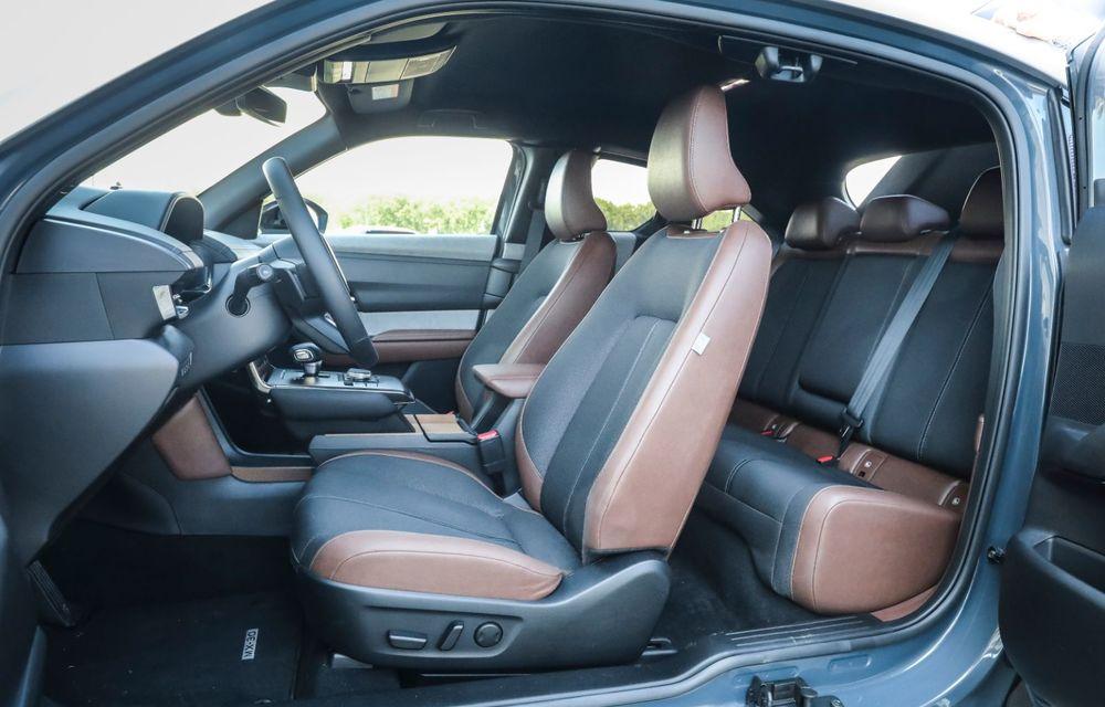 Întâlnire cu MX-30, prima electrică Mazda: autonomia de 200 de kilometri - între probleme de imagine, cifre oficiale și realități - Poza 73