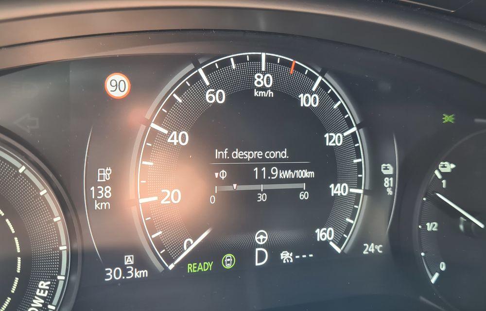 Întâlnire cu MX-30, prima electrică Mazda: autonomia de 200 de kilometri - între probleme de imagine, cifre oficiale și realități - Poza 85