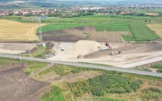 Imagini cu primele lucrări la autostrada A3 Târgu Mureș - Ungheni: tronsonul ar trebui finalizat până la sfârșitul anului 2021