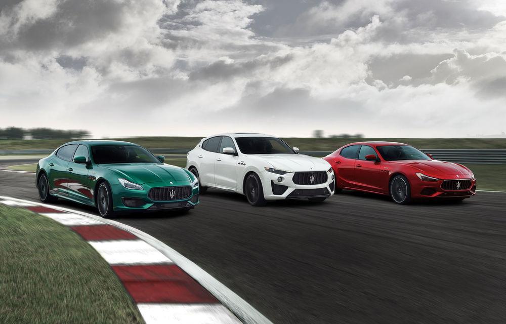 Maserati Ghibli și Quattroporte primesc versiuni de performanță Trofeo cu motor V8 de 580 de cai putere. Noutăți și pentru Levante Trofeo - Poza 1