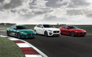 Maserati Ghibli și Quattroporte primesc versiuni de performanță Trofeo cu motor V8 de 580 de cai putere. Noutăți și pentru Levante Trofeo