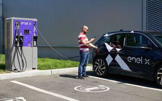 Enel X a instalat 34 de puncte de încărcare pentru mașini electrice în București și împrejurimi: urmează stații în Timișoara, Sibiu și Constanța