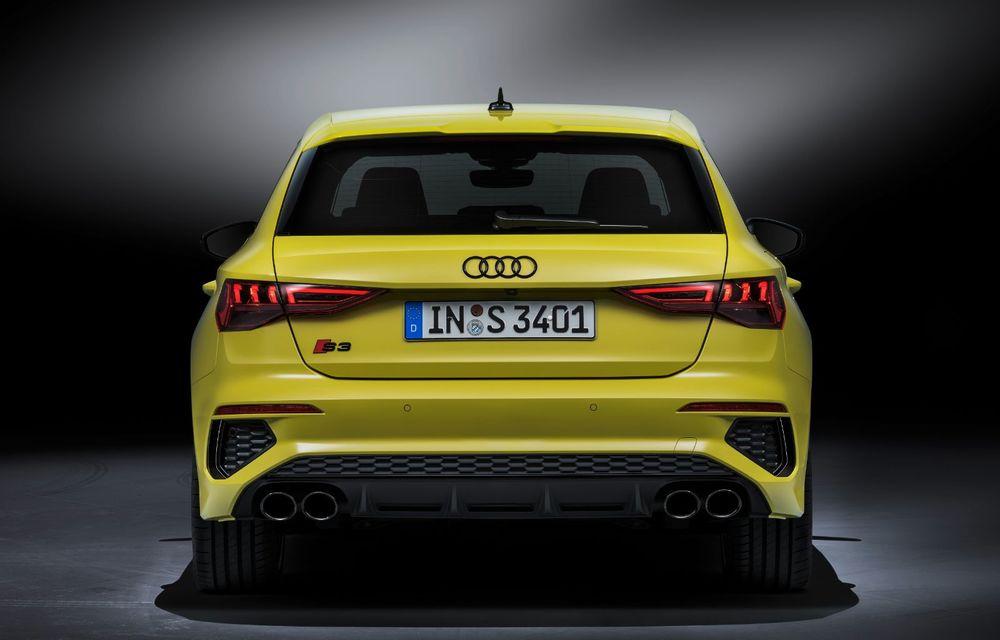 Audi a prezentat noile S3 Sportback și S3 Sedan: motor de 2.0 litri cu 310 CP și 400 Nm - Poza 17
