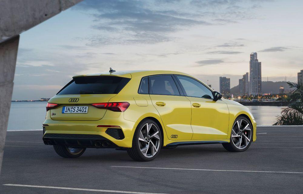 Audi a prezentat noile S3 Sportback și S3 Sedan: motor de 2.0 litri cu 310 CP și 400 Nm - Poza 25