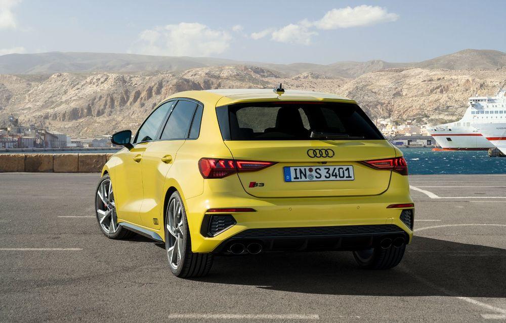 Audi a prezentat noile S3 Sportback și S3 Sedan: motor de 2.0 litri cu 310 CP și 400 Nm - Poza 29