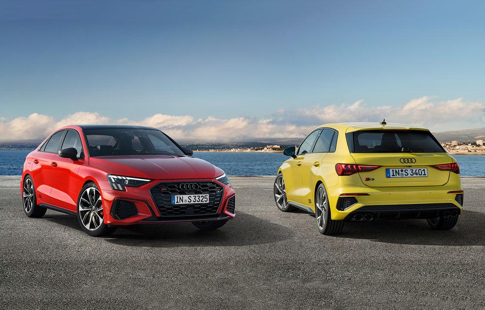 Audi a prezentat noile S3 Sportback și S3 Sedan: motor de 2.0 litri cu 310 CP și 400 Nm - Poza 1
