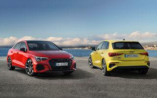 Audi a prezentat noile S3 Sportback și S3 Sedan: motor de 2.0 litri cu 310 CP și 400 Nm