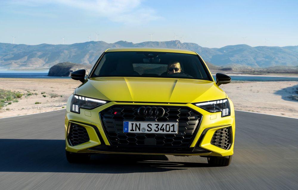Audi a prezentat noile S3 Sportback și S3 Sedan: motor de 2.0 litri cu 310 CP și 400 Nm - Poza 33