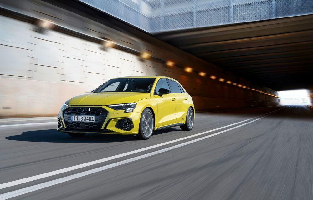Audi a prezentat noile S3 Sportback și S3 Sedan: motor de 2.0 litri cu 310 CP și 400 Nm - Poza 31