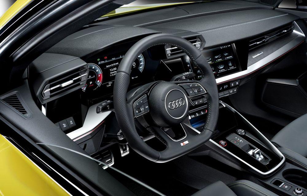 Audi a prezentat noile S3 Sportback și S3 Sedan: motor de 2.0 litri cu 310 CP și 400 Nm - Poza 53