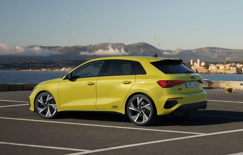 Audi a prezentat noile S3 Sportback și S3 Sedan: motor de 2.0 litri cu 310 CP și 400 Nm - Poza 27