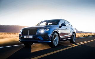 Bentley lansează Bentayga Speed facelift: SUV-ul britanic păstrează motorul W12 de 6.0 litri cu 635 de cai putere